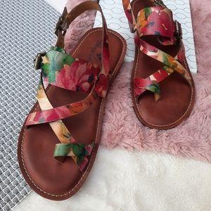 Patricia Nash Fidella Floral Strappy Sandal